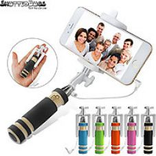 ShutterBugs Blue Selfie Stick Monopod with AUX for Android and IOS for Rs. 5