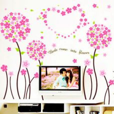 Buy 5797 | Wall Stickers Pink Pandora Flowers Border Design from Ebay