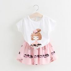 Buy Cute Printed Top With Skirt from Hopscotch