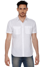 Buy X LIFE Mens Double Pocket Linen Shirt