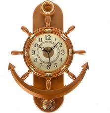 Smile2u Retailers Analog Wall Clock  (Copper, With Glass) for Rs. 586