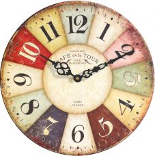 Flat 66% off on Basement Bazaar Analog 30.48 cm Dia Wall Clock(Antique Rust, Without Glass)