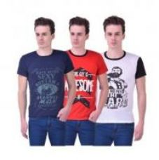 Get 80% off on Stylogue Men's Multicolor Round Neck T-shirt (Pack Of 3)