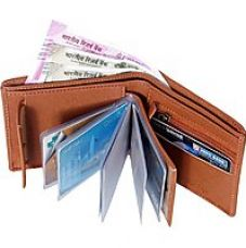Buy Wildantler Men Tan Artificial Leather Wallet  (10 Card Slots) from ShopClues