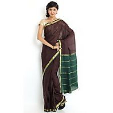 Buy Wonderful Pure Mysore silk saree-Brown-SSSB151-MV-Chiffon, Crepe for Rs. 5,229