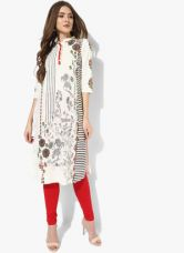Buy W Off White Printed Kurta for Rs. 900