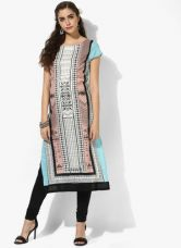 W Multicoloured Printed Kurta for Rs. 900