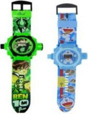 Buy Buy 1 Get 2 Cartoon Projector & Digital Watch For Kids 24 Images for Rs. 299