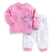 Buy Hippo Print Pink T-Shirt and Pant Set from Hopscotch