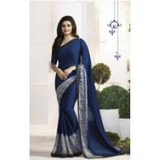 Get 71% off on Indian Beauty Multicolor Floral Georgette Saree With Blouse