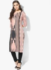 Buy W Peach Printed Kurta from Jabong
