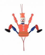 Desi Karigar Wooden Hanging Joker Toy - Orange for Rs. 158