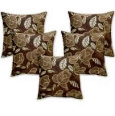 Get 67% off on Story @ Home Brown Designer Digital Print Cushion Cover Set Of 5 Pcs - Ch1026