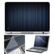 Buy Finearts Laptop Skin 15.6 Inch With Key Guard & Screen Protector - Vertical Blue Lines from ShopClues