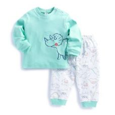 Hippo Print Light Green T-Shirt and Pant Set for Rs. 310