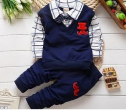 Navy Polo T-Shirt With Bow And Pant Set for Rs. 849