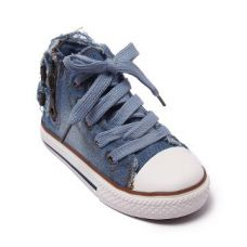 Blue High Top Sneakers With Side Zip for Rs. 499