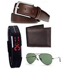 Buy K Decor  Wallet belt and Led Band Watch combo for Rs. 249