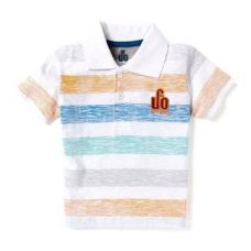 Flat 60% off on Trendy Multi Striped Polo T-Shirt