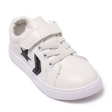 White Sneakers With Black Star for Rs. 499