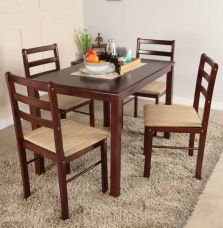 Buy Woodness Solid Wood 4 Seater Dining Set(Finish Color - Wenge) from Flipkart