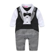 Collared Neck Black Formal Style Romper for Rs. 659