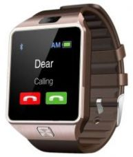 Buy Cubee Dz09 Bluetooth Smart Wrist Watch Mobile Phone With Sim Slot,camera And Android Ios Connectivity - Gold from Rediff