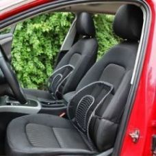 Set Of 2 Car Seat Massage Chair Back Lumbar Support Mesh Ventilate Cushion for Rs. 298