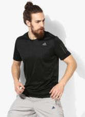 Buy Adidas Black Round Neck T-Shirt for Rs. 855