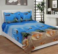 Buy Trendz Exclucive 5d Cotton Double Bedsheet With 2 Pillow Covers - (code -vi1907) for Rs. 299