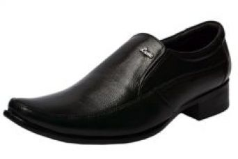 Flat 64% off on Molessi Mens Black Leather Formal Shoes - ( Code - Ml15f520s_p )