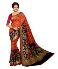 Get 71% off on Riti Riwaz Traditional And Bhagalpuri Saree With Floral Pattern Print With Golden Aw15bs-sr023