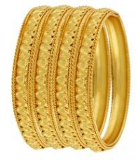22 Crt Gold Plating Heavy Party Wear Kada Set Of 4 for Rs. 285