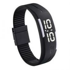 Flat 75% off on Led Digital Watches Jelly Men Black Wristwatch Magnet Buckle Clock
