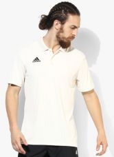 Buy Adidas Howzat Off White Cricket Polo T-Shirt for Rs. 675