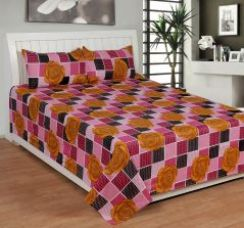 Buy Trendz Cotton Double Bedsheet With 2 Pillow Cover - (code -vi1818) for Rs. 383