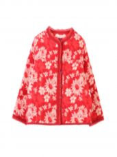 Buy My Little Lambs Unisex Red & White Printed Reversible Jacket from myntra