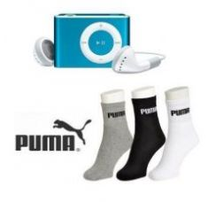 Buy Buy Puma Socks And Get MP3 Player Free for Rs. 265