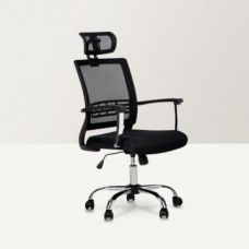 Buy Titus High Back Mesh Headrest Office Chair Black from Fabfurnish