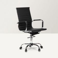 Astra Medium Back PU Office Chair Black for Rs. 7,490