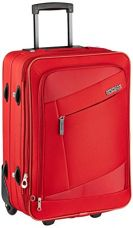 Buy American Tourister Elegance Plus Polyester 55 cms Red Softsided Carry-On (87W (0) 00 101) from Amazon