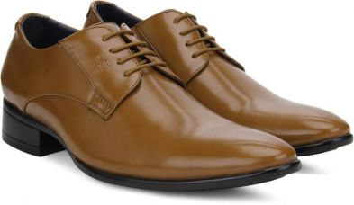 Get 45% off on Peter England PE Lace Up Shoes  (Tan)