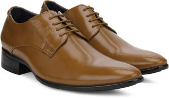Get 45% off on Peter England PE Lace Up Shoes(Tan)