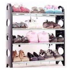 Get 80% off on 12 Pair Stackable Shoe Rack Storage 4 Layer