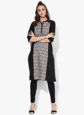 Flat 60% off on Aurelia Grey Printed Cotton Kurta