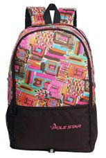 POLE STAR 32 Liters Pink & Brown Casual Backpack for Rs. 399