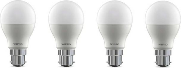 Buy Wipro 10 W Arbitrary B22 LED Bulb  (White, Pack of 4) from Flipkart