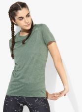 Buy Adidas Sn Ss Olive Running Round Neck T-Shirt for Rs. 1120
