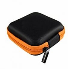 UNMCORE Multi-Purpose Storage Travel Carrying Case For Earphone Headphone Bluetooth Earbuds Handsfree Pen Drives Memory Card Data Cable - Orange for Rs. 239