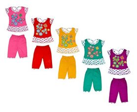 Buy Sathiyas Baby Girls Cotton Top & Bottom Set (Multicolor, Set of 5, TBaby16) from Amazon